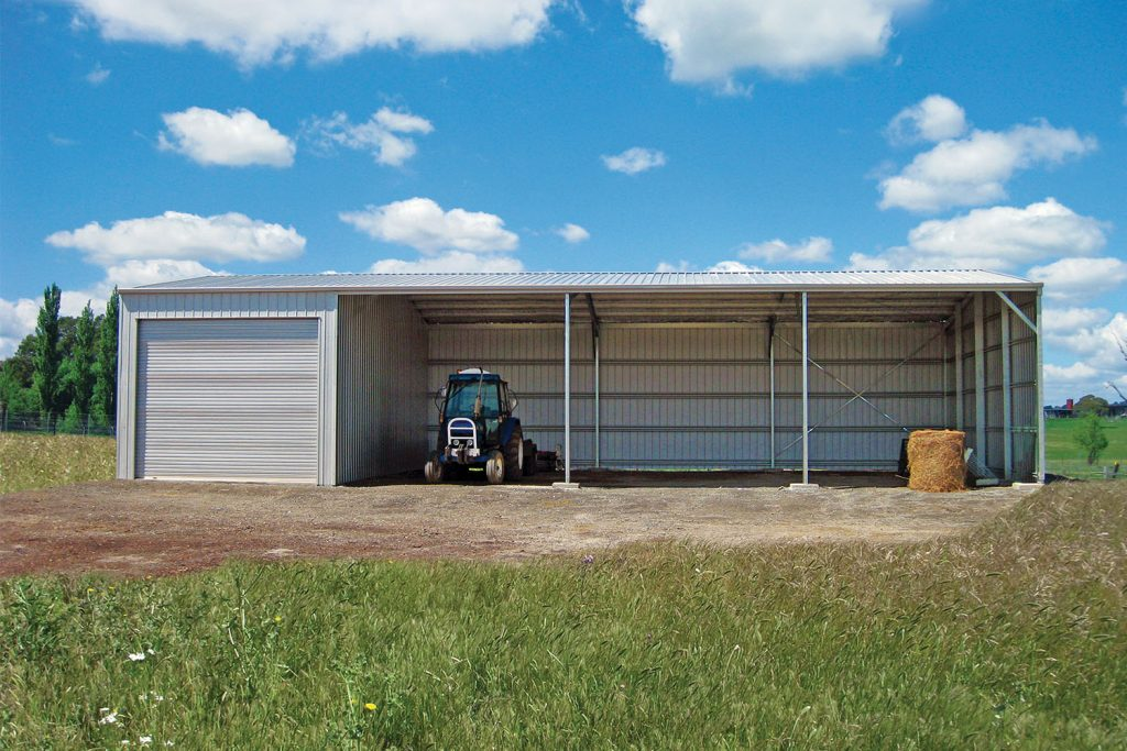 Farm sheds machinery sheds designs totally sheds for How to build a tractor shed